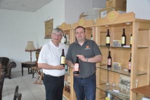 Michael Krauß und Norbert Bosse vom Gourmet Garten zu Besuch in der Braumanufaktur Schmalkalden
