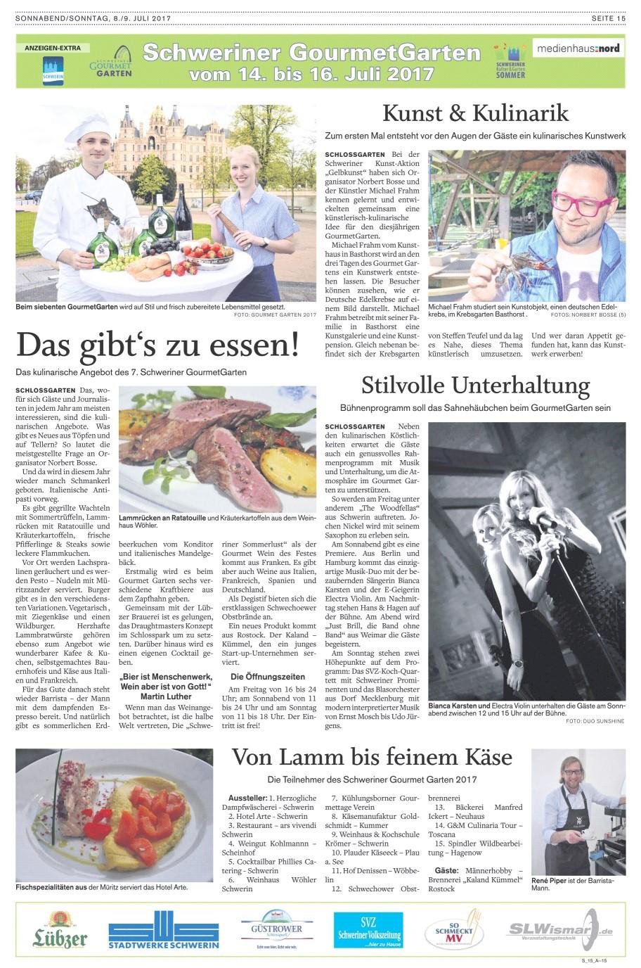 SVZ Sonderseite GG Schwerin 2017